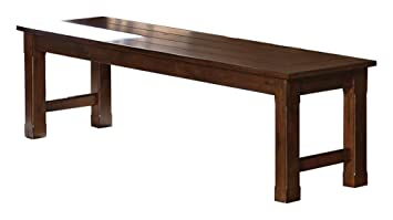 Miraculous Amazon Com Sobrada Industrial Dining Bench In Rustic Brown Ibusinesslaw Wood Chair Design Ideas Ibusinesslaworg