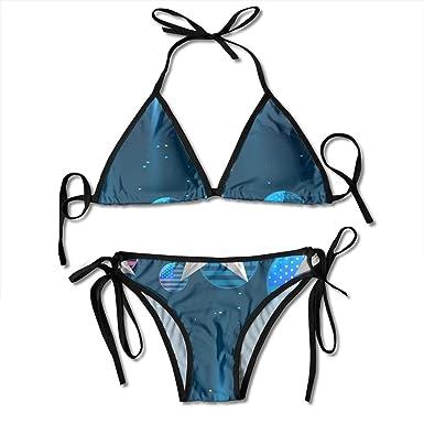 Brillante Bandera Americana Diseño Bikini Sexy para Mujer ...