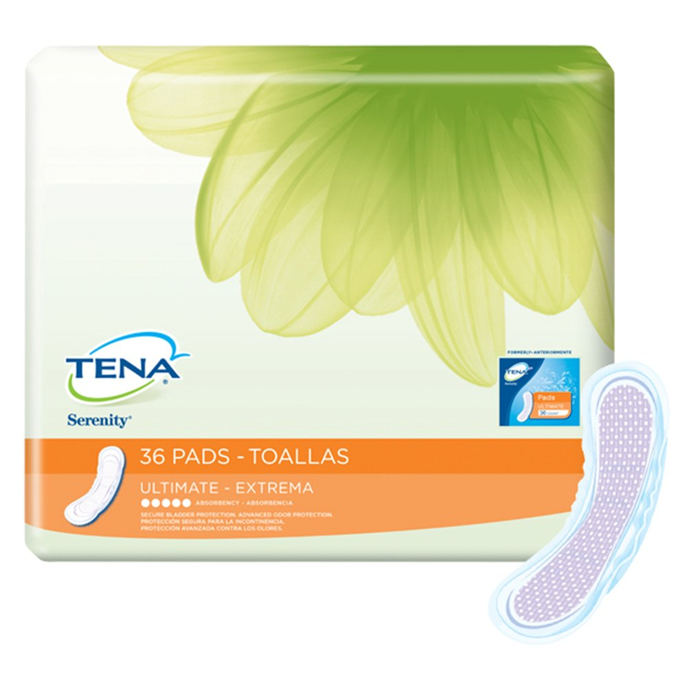 MCK49803100 - Bladder Control Pad Tena Serenity Ultimate 16 Inch Length Heavy Absorbency Polymer Female Disposable