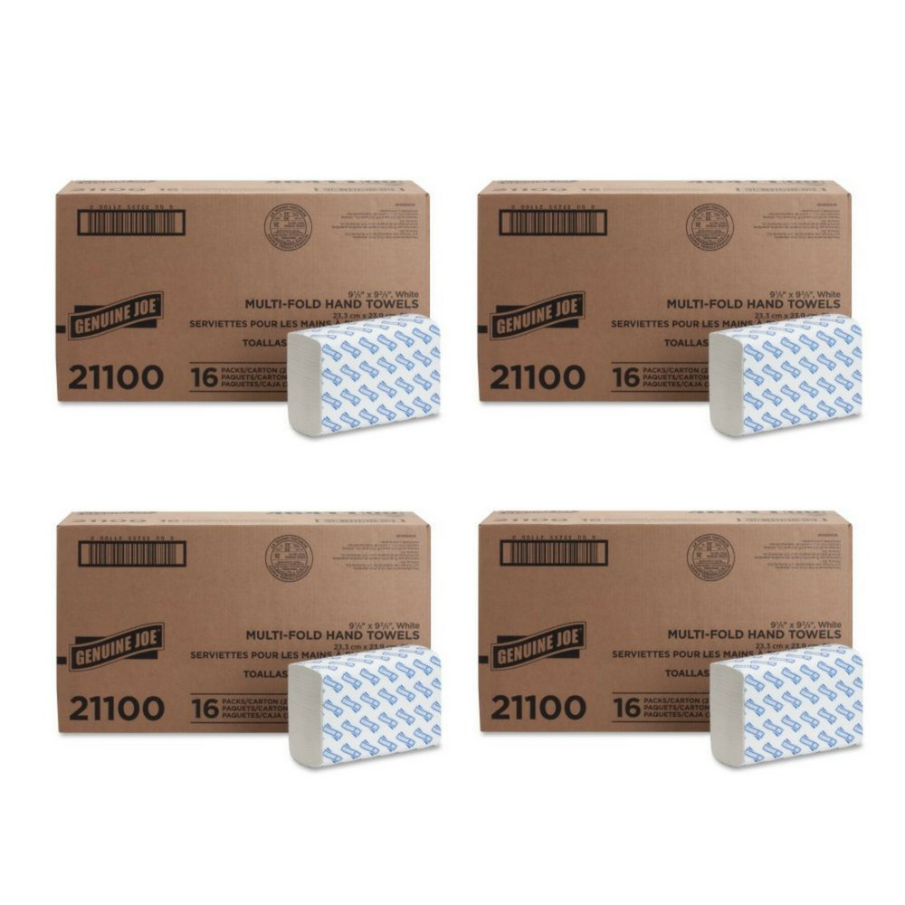 Amazon.com: Genuine Joe GJO21100 Multifold Towels, 9.5