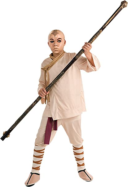 avatar the last airbender aang deluxe halloween costume child size small 4 6