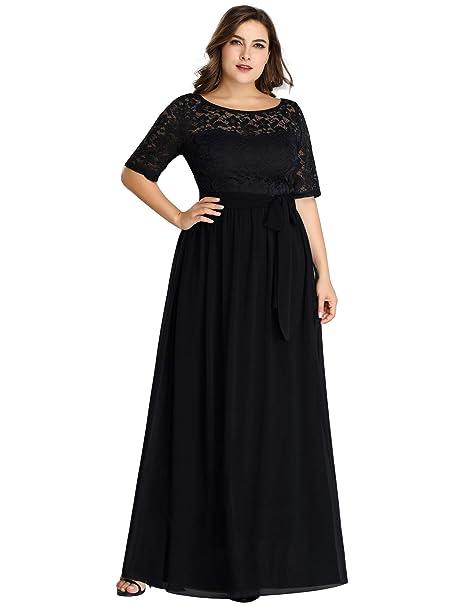 Amazon.com: Ever-Pretty vestidos de encaje para mujer, talla ...
