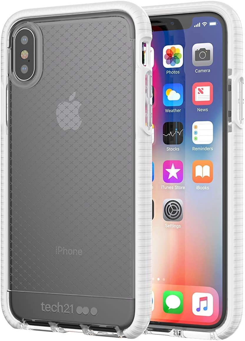 """Evo Check Tech.21 Case for Apple iPhone Xs Max (6.5"""") - Clear/White"""