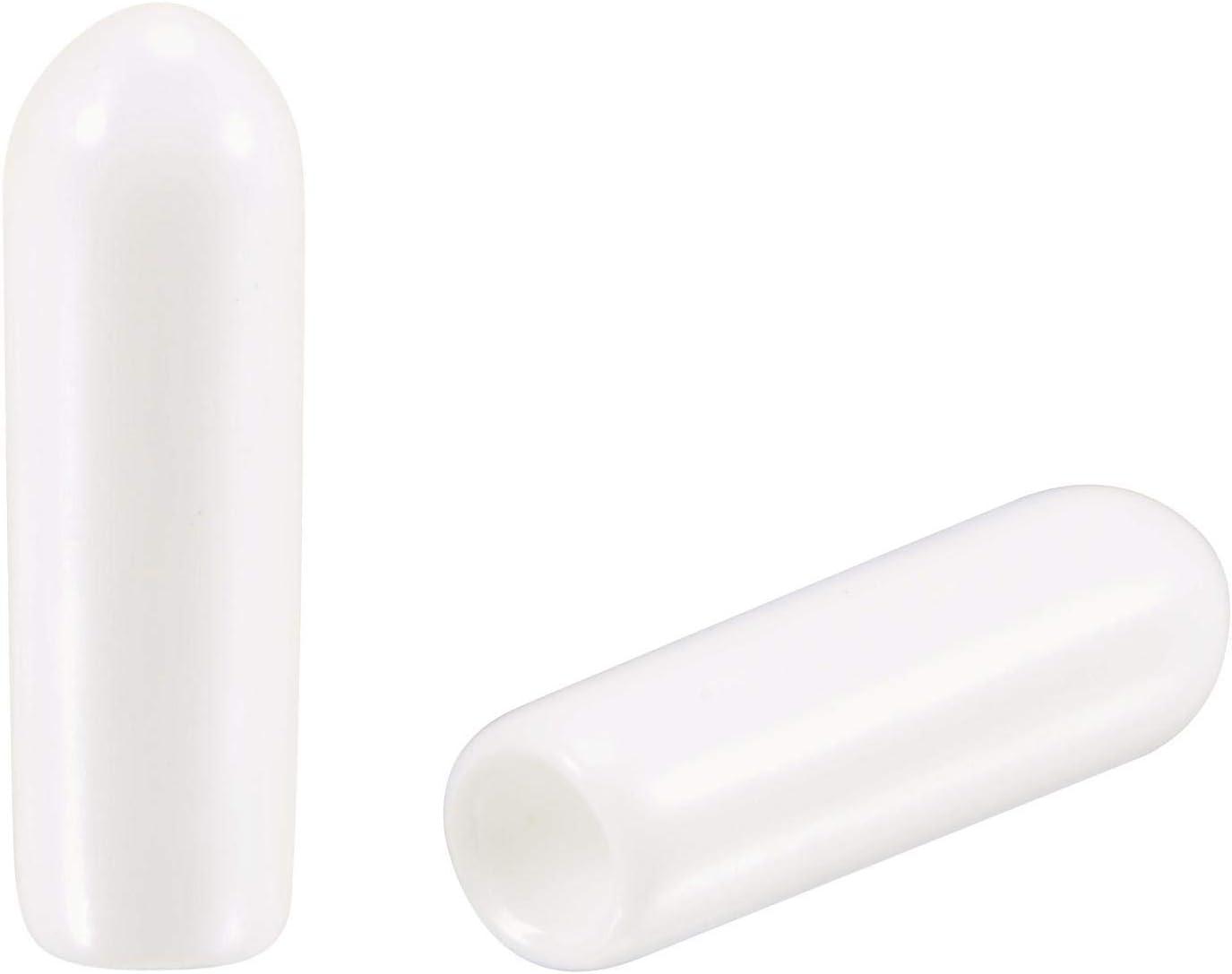 uxcell 50pcs Round Rubber End Caps 1/8