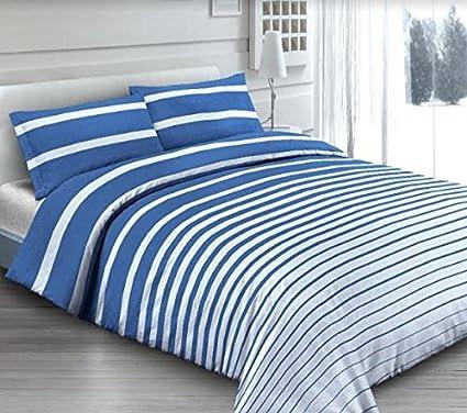 Copripiumino Matrimoniale Riga Blu in Cotone Made in Italy