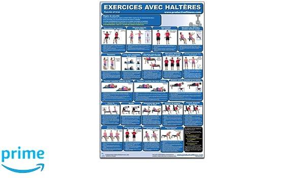 Exercices avec Halters - Epaules et bras - Affiche - Dumbbell ... 0d62ba1a8b9