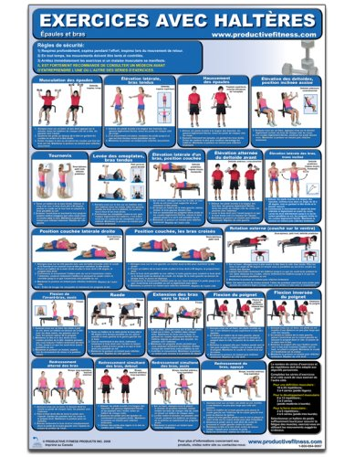 (Exercices avec Halters - Epaules et bras - Affiche - Dumbbell Exercises-Shoulders and Arms (French Edition) CDSL-FR)
