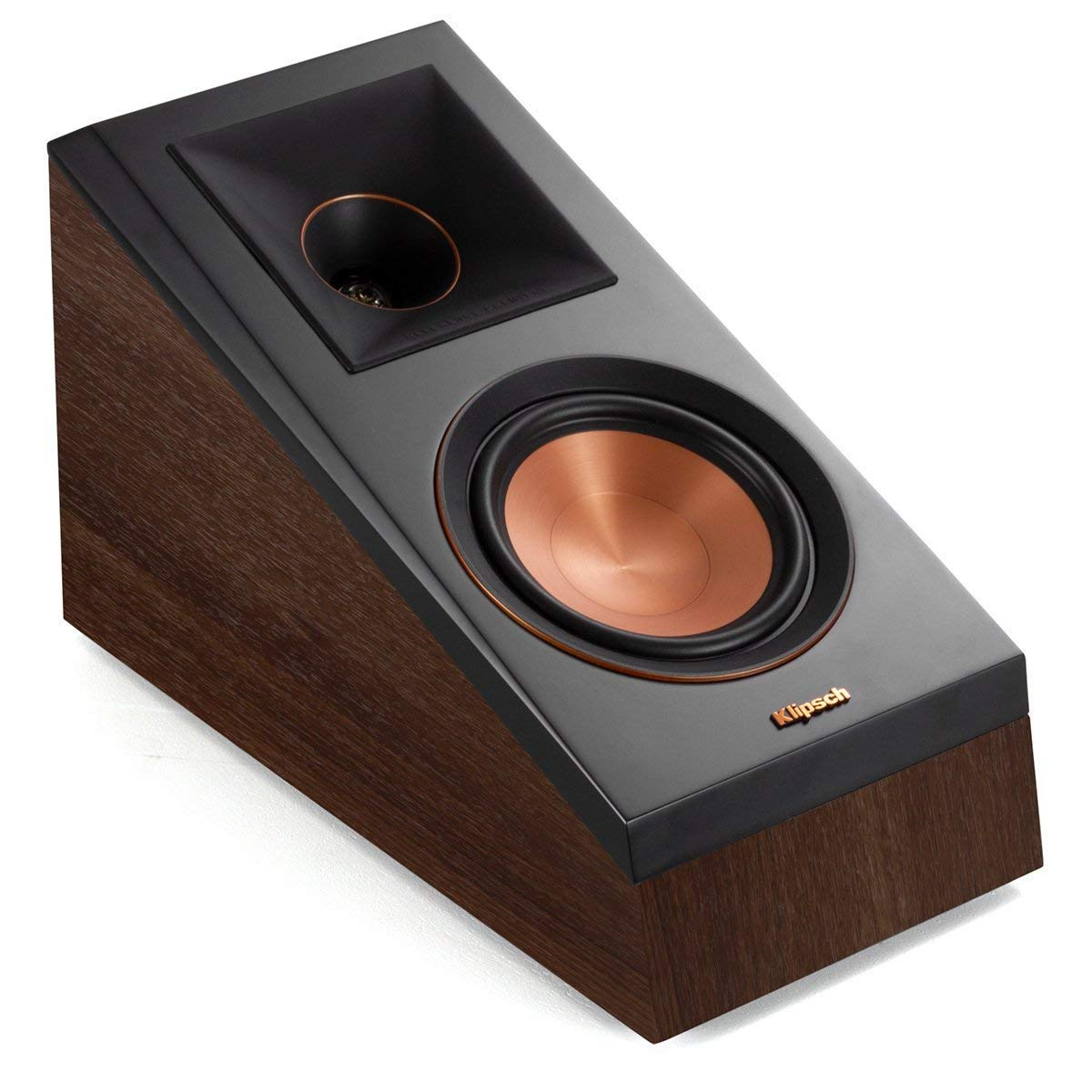 Klipsch RP-500SA Dolby Atmos Surround Sound Speakers (Walnut)