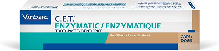 Virbac C.E.T. Enzymatic Toothpaste for Dogs and Cats, Beef Flavor, 2.5 oz