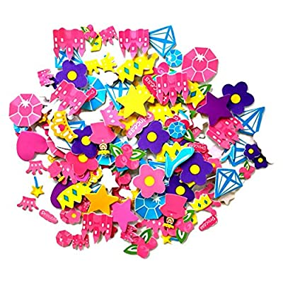 Playscene' Self Adhesive Craft Stickers, Carnival, Planets, Farm Animals, Princess Themed Stickers (500 Piece Party Packs) (Princess): Toys & Games