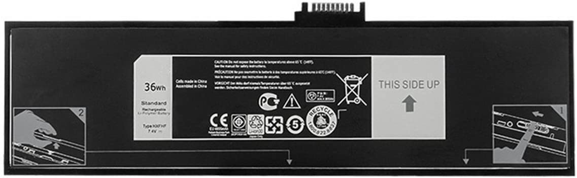 7XINbox 36Wh 7.4V HXFHF VJF0X VT26R XNY66 451-BBGR 0VT26R Replacement Laptop Battery for Dell Venue 11 Pro 7130 7139 7310 Tablet