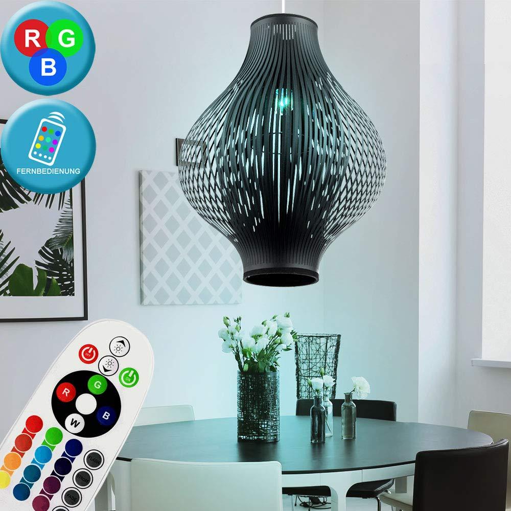 RGB LED Hänge Lampe Fernbedienung Wohn Ess Zimmer Decken Pendel Leuchte dimmbar