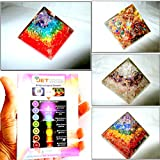 Jet Exquisite Four (4) Rainbow Mix Orgone RCA Chakra Layer Orgone Pyramid 1 each Best Offer Free Booklet Jet International Crystal Therapy Crystal Gemstones Copper Metal UPS EXPEDITED SHIPPING