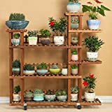 Flower Racks Flower stand Plant stand Plant flower pot rack Display shelf Shelf holds Wood plant stand Solid wood Multi-Storey Balcony Living room-B