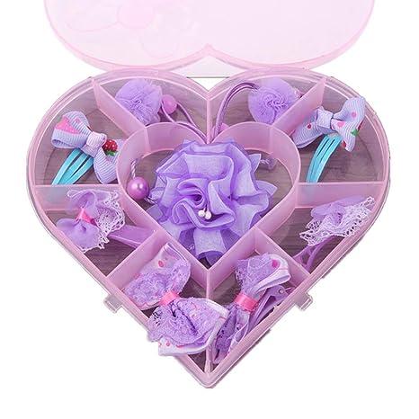 Pinza para el pelo accesorio para niña 8 unids princesa rosa ...