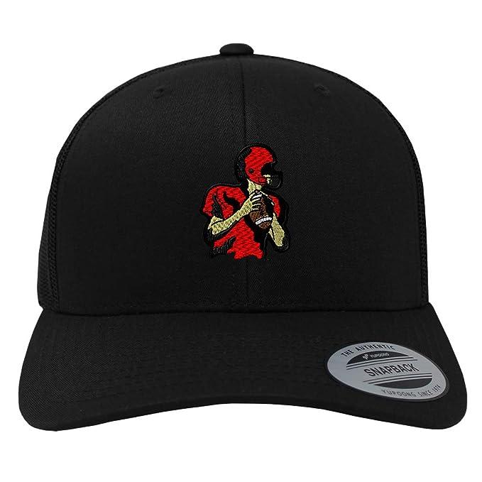 ac962b8202a Snapback Baseball Cap Sport Football Player Embroidery Team Name Cotton  Mesh Hat Snaps - Black