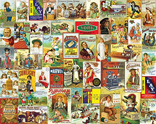- White Mountain Puzzles Antique Advertising - 1000 Piece Jigsaw Puzzle