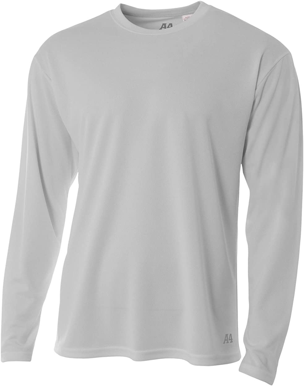A4 Men's Long Sleeve Birds-Eye Mesh Crew |