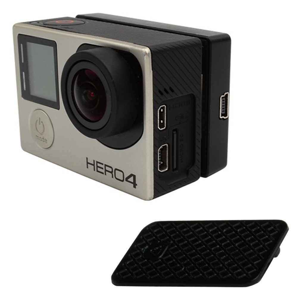 Feamos Replacement USB Side Door Dust Plug Cover Case Repair Part for GoPro Hero 3 3+ 4 Black by Feamos (Image #3)