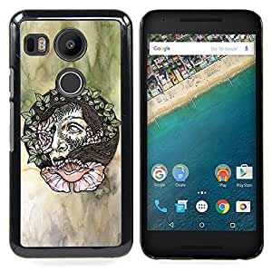 - Wreath Artistic Art Green Watercolor - - Snap-On Rugged Hard Cover Case Funny HouseFOR LG Google Nexus 5X