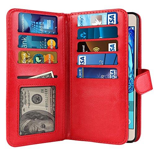 Cheap Flip Cases Samsung Galaxy On5 G550 G500 Case, NEXTKIN Premium PU Leather Dual Wallet..