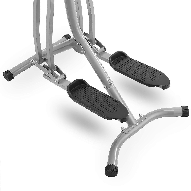 Nordic-Walker f/ür Zuhause Cardio-Trainer Physionics Crosstrainer mit LCD-Display Heimtrainer Stepper mit Herzschlag-Sensor und Bauchunterst/ützung