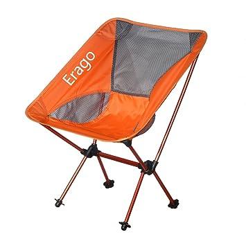 Amazon.com: Zerllaug Silla plegable de acampada, ligera y ...