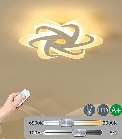 Modern - Lámpara LED de techo Fácil lámpara de techo Mando a ...