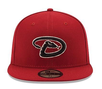 cb07c5cd820e2 Amazon.com: New Era Arizona Diamondbacks Red Alternate 4 Authentic On Field  59FIFTY Fitted Hat: Clothing
