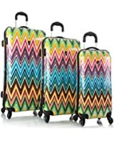Heys Colour Herringbone 3-piece Spinner Luggage Set