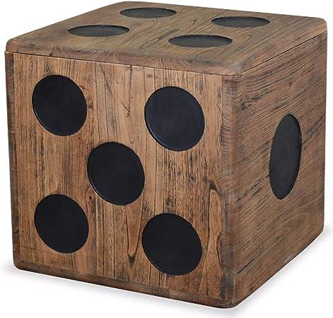 vidaXL 244559 Mindi - Caja de almacenamiento (40 x 40 x 40 cm): Amazon.es: Hogar