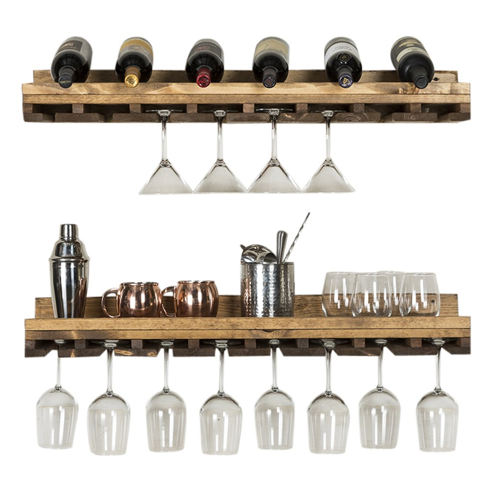 del Hutson Designs Rustic Luxe Tiered Glass Racks