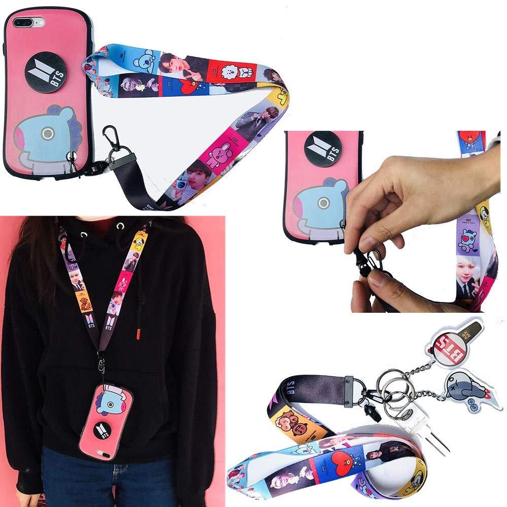30 Pack BTS Lomo Cards 2 Pack BTS Button Pin BTS Gifts Set for Army 1 Pcs BTS Neck Lanyard 8Pcs 1 Pcs BTS Phone Airbag Bracket 63 Pcs BTS Cartoon Laptop Stickers BTS Photo Key Chains 1String