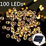 Weanas ® Solar Power String Fairy Light Warm White 100 LEDs Solar Energy Overlapped Connectable 55 feet 17M for Indoor Outdoor Home Garden Christmas Party