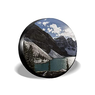 Homlife Spare Tire Cover - 15 Inch Waterproof Universal Wheel Tire Cover Protector - Beautiful Mountains Art Illustration Fit for Jeep,Trailer, RV, SUV and Many Vehicle - 4: Clothing
