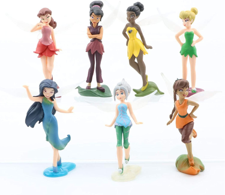 7 Pcs Miniature Fairies Figurines Collection Playset Cake Toppers, Fairy Plant Pot Dollhouse Fairy Garden Ornament, Landscape Scenes