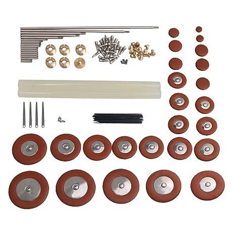 BQLZR DIY piezas de reparación de saxofón Alto saxofón Pad Set + Kit de suspensión para