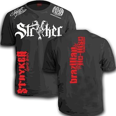 74ece1c18 Stryker Fight Gear Y Gloves Shorts Sleeve T-shirt Top Tapout UFC Brazilian  Jiu Jitsu Boxing | Amazon.com