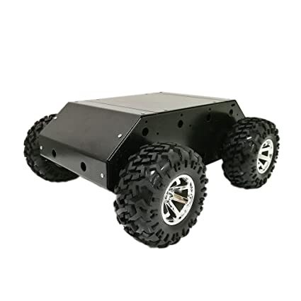 Amazon.com: 4wd Smart Car Chassis with Stainless Steel Frame, 130mm ...