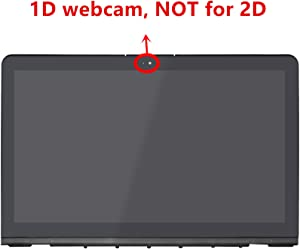 LCDOLED Compatible 15.6 inch FHD 1080P IPS LCD Display Touch Screen Digitizer Assembly + Bezel + Control Board Replacement for HP Envy Notebook 15-as020nr 15-as010ca 15-as014wm 15-as068nr 15-as091ms