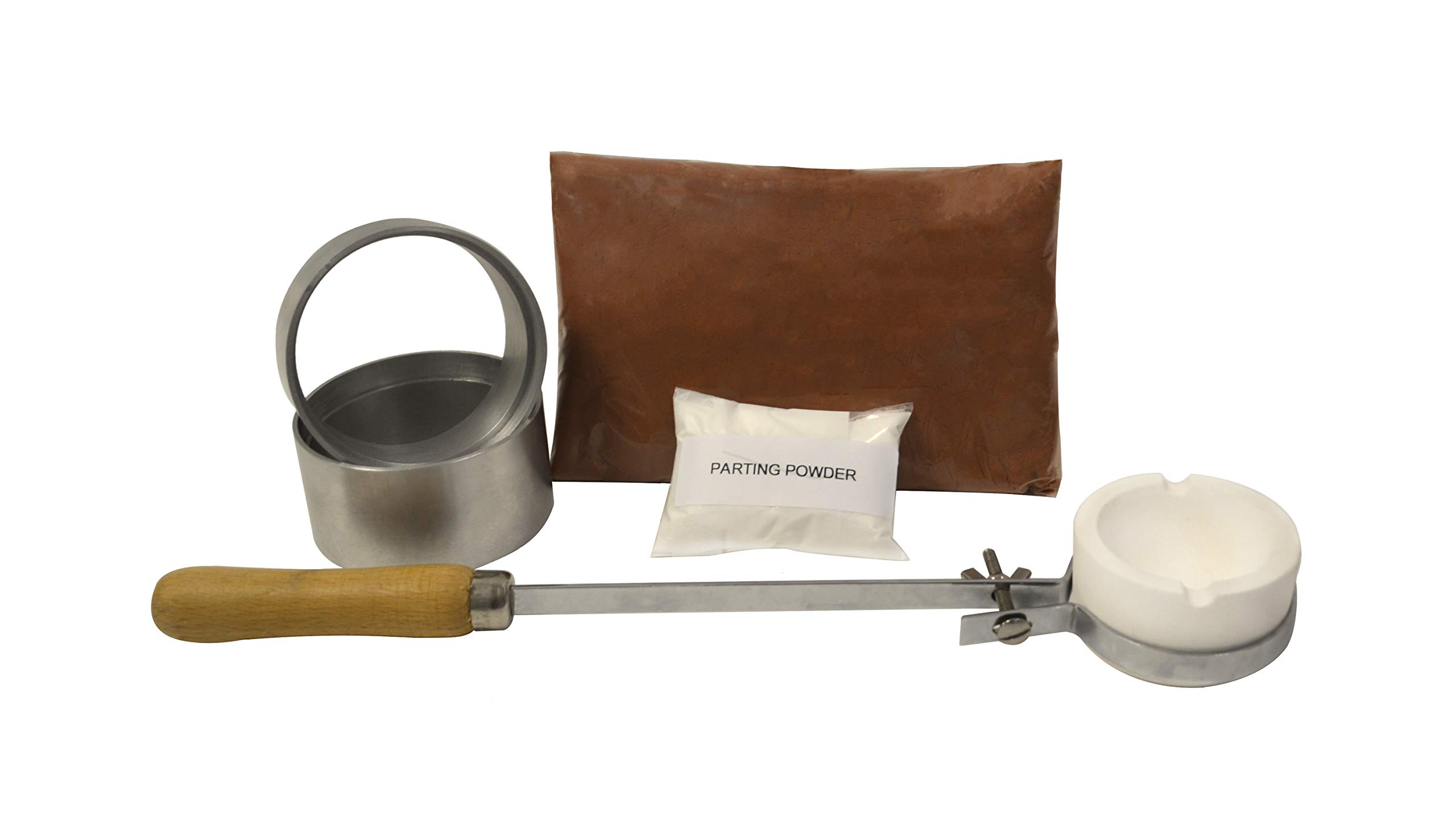 Basic Quick Cast Sand Casting Kit Jewelry Making Precious Metal Casting Gold Silver Pouring Set with Accessories