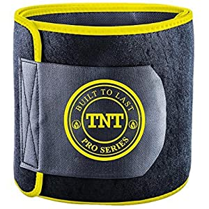 TNT Pro Series Waist Trimmer Weight Loss Ab Belt - Premium Stomach Wrap and Waist Trainer (Large)