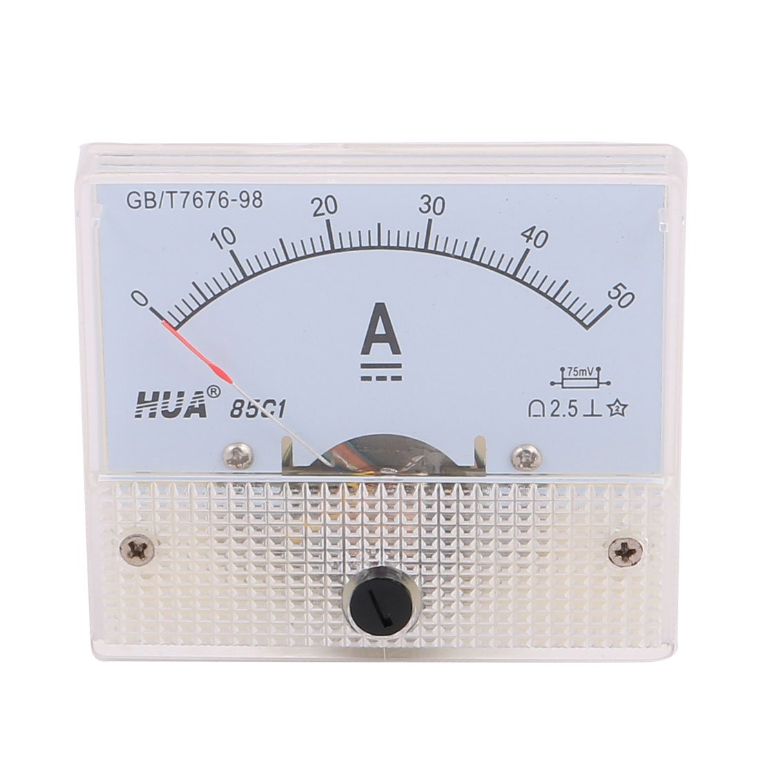 uxcell Pointer Needle 50A Rectangle Panel Current Analog Gauge Tester DC Ammeter