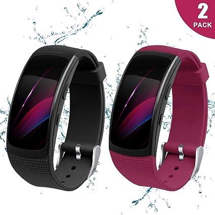 Amazon.com : Yayuu Compatible Samsung Gear Fit2 Pro Band ...