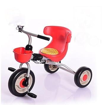 MASLEID Ligera vehículo de tres ruedas de la bicicleta plegable para niños de edades comprendidas 2