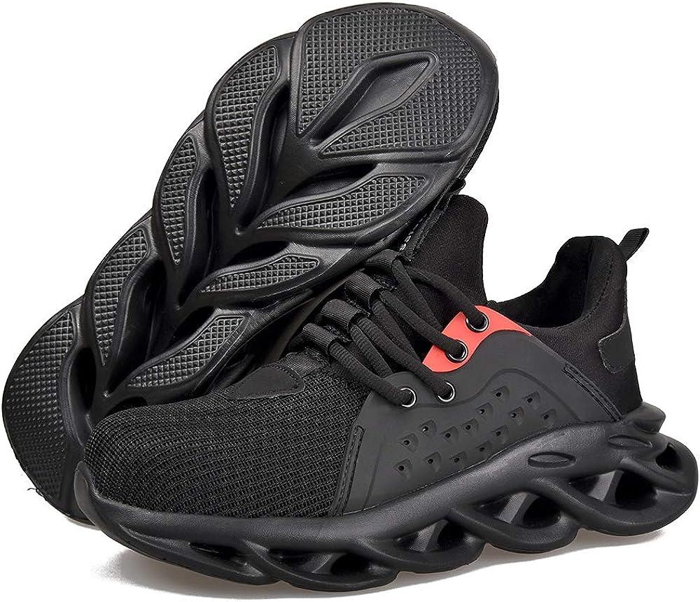 SITAILE Steel Toe Work Shoes Men Women