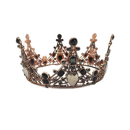 ZLYFS Novia Corona Diamante De Imitación De Acrílico Negro ...