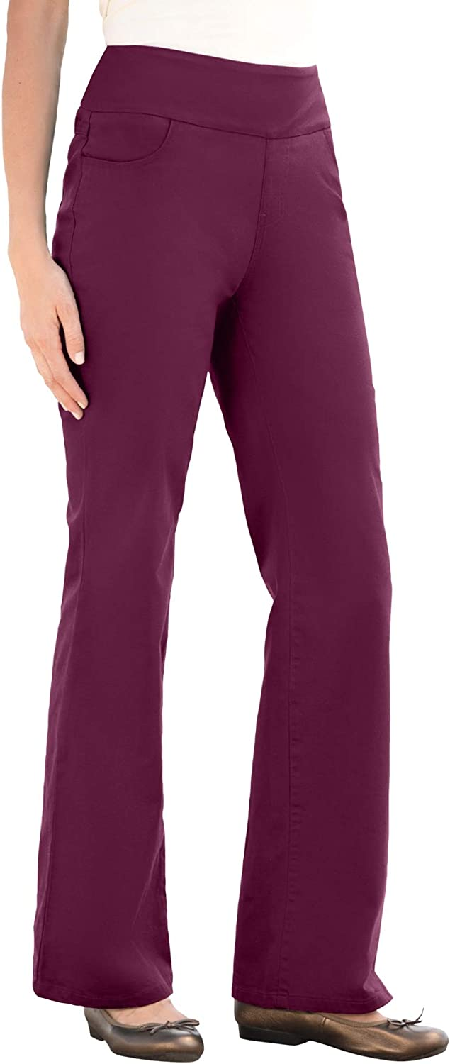 Woman Within Womens Plus Size Tall Pull-On Bootcut Jean
