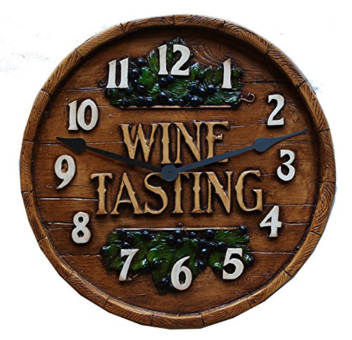 Wine Decor Wine Barrel Tasting Room Wall Clock