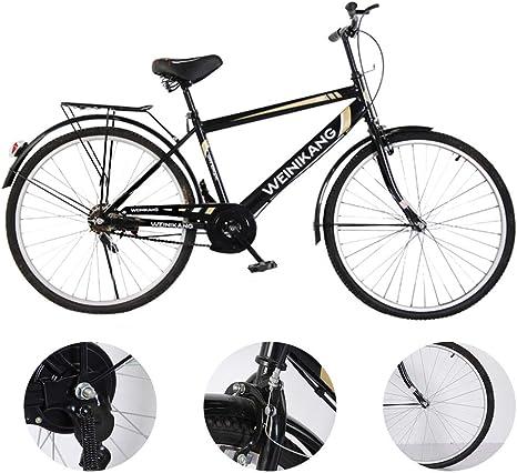 Greetuny 28 Pulgadas Bicicleta De Hombres Bici De Ciudad, Niños Bicicleta Luz Ciudad De Bicicleta Retro Diseño De Ciudad Bicicletas De Ciudad En Bicicleta Bicicleta De Ciudad,Negro: Amazon.es: Deportes y aire libre